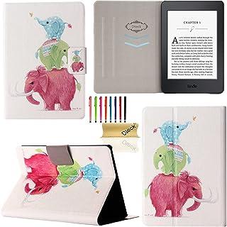 Kindle Paperwhite E-Reader Case, Dteck Ultra Thin Lightweight Cute Flip Folio Smart Case with [Auto Sleep/Wake] PU Leather...