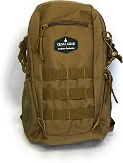 Cedar Gear Durable and Reliable Military Tactical Backpack 20L Molle Outdoor Rucksack, Force Series (Beige)