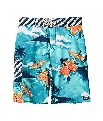 Billabong Kids Sundays Pro Swim Shorts (Toddler/Little Kids) (Seagreen) Boy