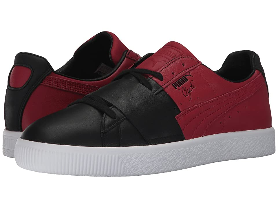 PUMA Clyde Color Block 1 (PUMA Black/Chili Pepper) Men