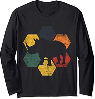 Rhino T-Shirt Long Sleeve Zookeeper Africa Animal