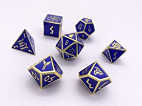 Norse Foundry Set of 7 Paladins Oath Norse Series Full Metal Polyhedral Dice RPG Math Games DND Pathfinder …