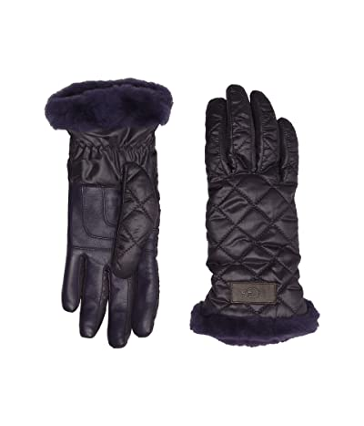 UGG Quilted Performance Tech Gloves with Sherpa Lining (Nightshade) Extreme Cold Weather Gloves