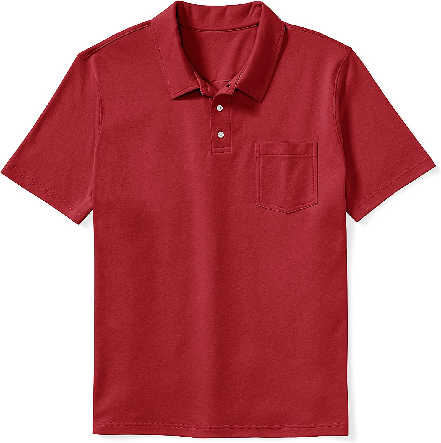Amazon Essentials Men's Big & Tall Jersey Polo Shirt fit by DXL