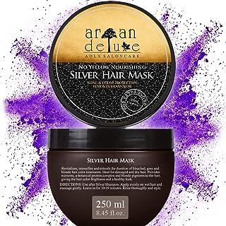 Maschera per capelli Antigiallo Argan Deluxe di qualità professionale 250 ml - Silver Mask - trattamento per capelli con s...