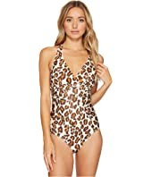 Athena - Printed Crisscross One-Piece