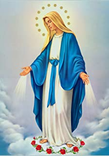 Our Lady Immaculate Conception of Mary POSTER 8x10 Virgin Mary print image Blessed Mother picture Holy Mary painting Catholic
