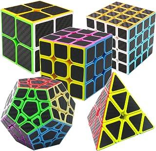 Coolzon Speed Magic Cube Ensemble Pyraminx + Megaminx + 2x2x2 + 3x3x3 + 4x4x4 5 Pack Puzzle Cube Set dans Boîte-Cadeau Nou...