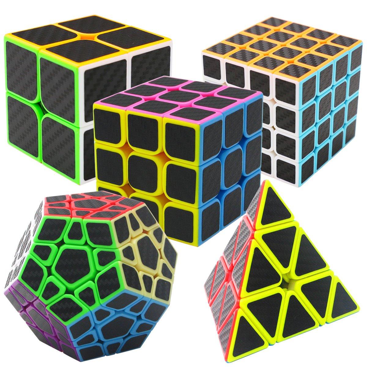 Coolzon Puzzle Cubes Megaminx + Pyraminx + 2x2x2 + 3x3x3 + 4x4x4 5 ...