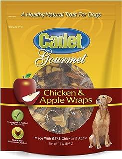 Cadet Chicken Apple Dog Chew Treats   14 oz.  Dog Chew Treat Wraps   Stick Kabobs