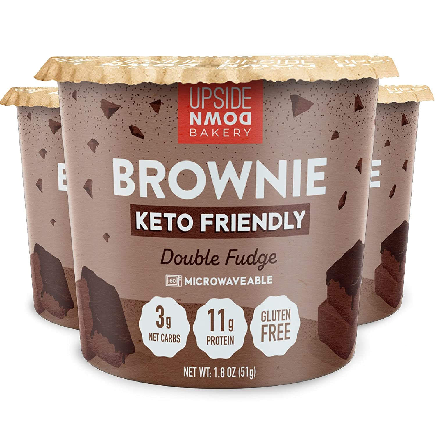 Keto Bombing free shipping Brownie Cup by Upside Down 11g Bakery Fudge P Ranking TOP2 Chocolate -
