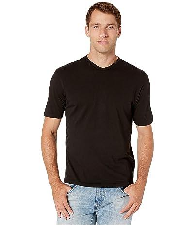 Mod-o-doc San Diego Short Sleeve V-Neck (Black) Men