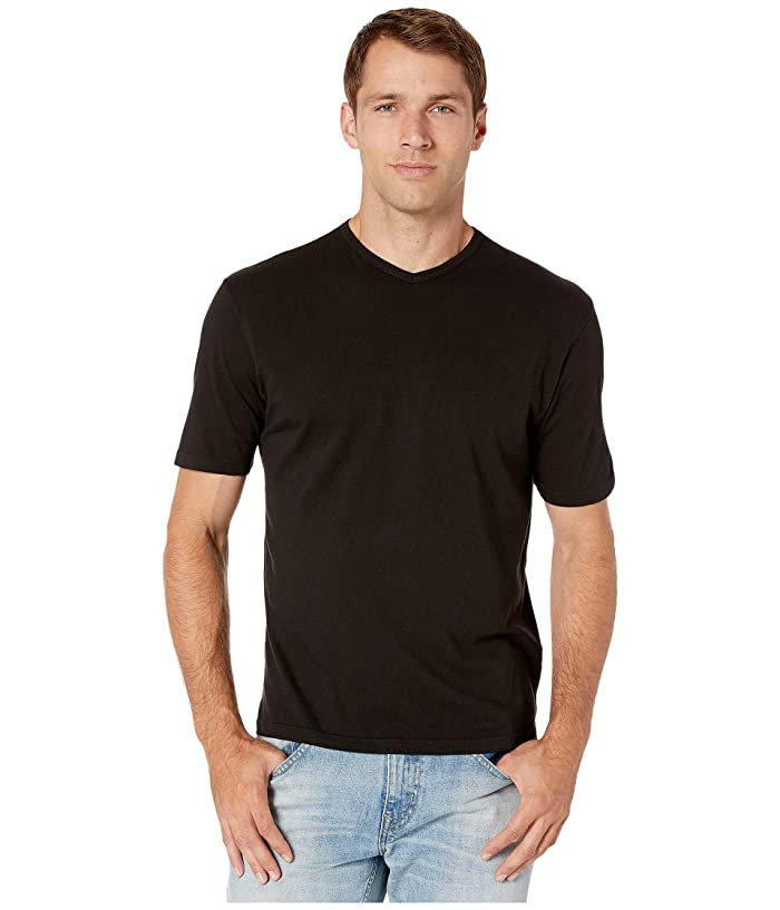 1950s Men's Clothing Mod-o-doc San Diego Short Sleeve V-Neck Black Mens T Shirt $53.00 AT vintagedancer.com