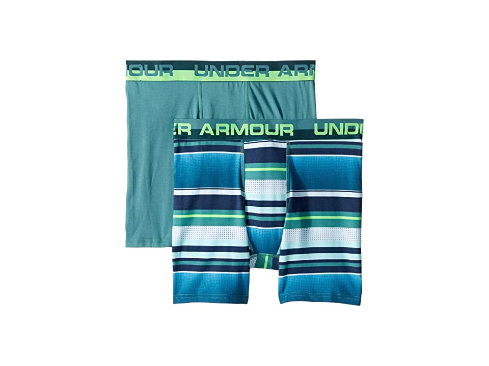 Under Armour Kids - Under Armour Kids 2-Pack Boardshorts Stripe Boxer Set