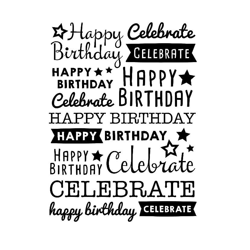 Darice 30041357 Embossing Folder, Happy Birthday Celebrate, 4.25 x 5.75 Inches