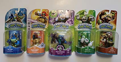 $49 » Skylanders Swap Force Action Figures (5) : Trap Shadow , Rip Tide , Zoo Lou , Scorp and Heavy Duty Sprocket