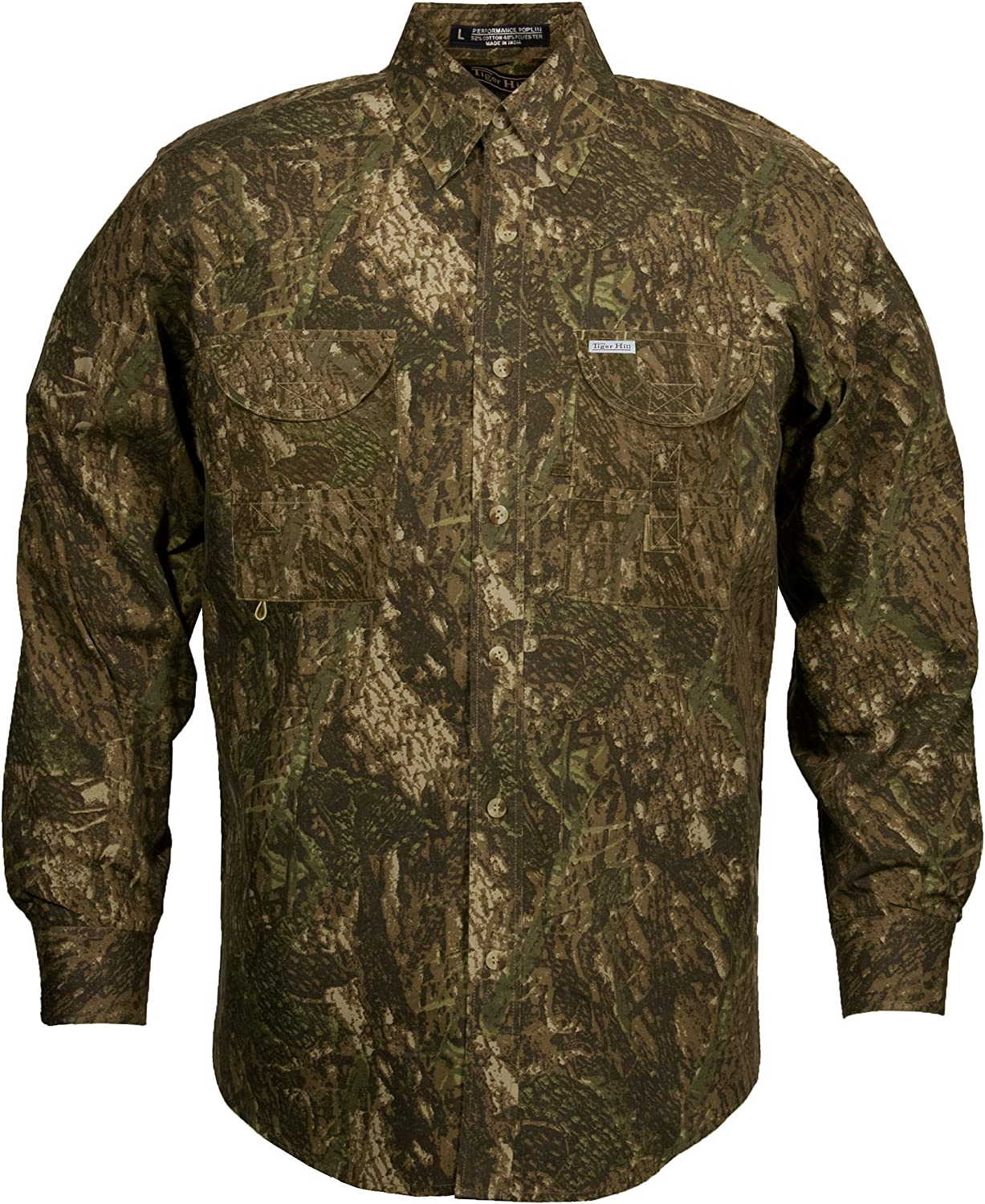 Tiger Hill Men's Camouflage Fishing Shirt Long Sleeves