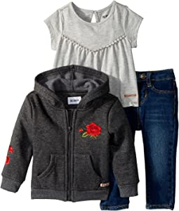 Hudson Kids - Three-Piece Set w/ Jersey Top, Fleece Jacket, and Skinny Denim Pants (Infant)