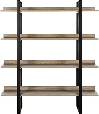 Safavieh Home Collection Melissa Retro Mid Century 4 Tier Etagere, Oak and Black
