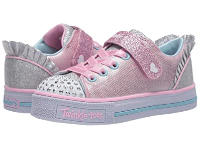 SKECHERS KIDS Twinkle Toes Twinkle Lite Princess Charm 20325L (Little Kid) (Pink/Silver) Girl