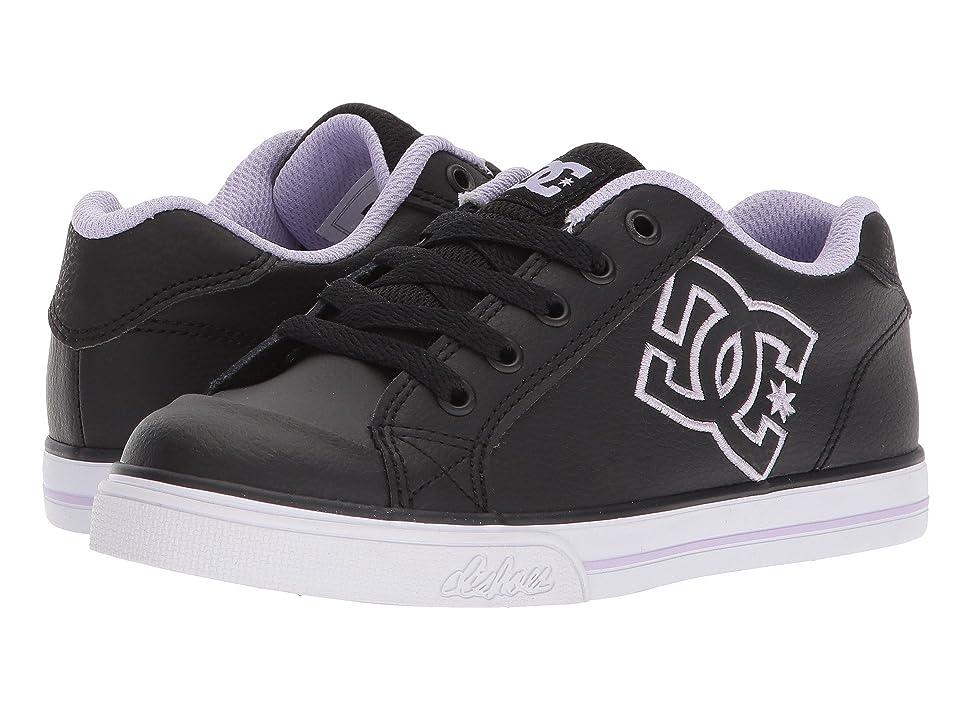 DC Kids Chelsea (Little Kid/Big Kid) (Black/Lavender) Girls Shoes
