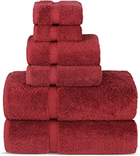 Sponsored Ad - Chakir Turkish Linens Luxury Spa and Hotel Quality Premium Turkish Cotton 6-Piece Towel Set (2 x Bath Towel...