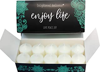 Enlightened Ambience Autumn Spiced Pears Scented Candle 10 Votives White