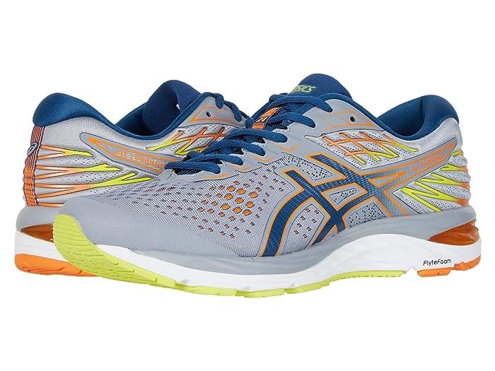 ASICS  GEL-Cumulus 21 (Sheet Rock/Mako Blue) Mens Running Shoes