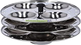 Royalford Stainless Idly Stand -3-Tier with 12 Pcs Capacity Idli Steamer, Idli Trey, | Stainless Steel Food Grade Material...