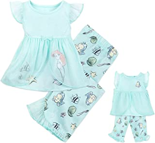 Disney Animators' Collection Ariel Matching Pajama Set for Kids and Doll Multi