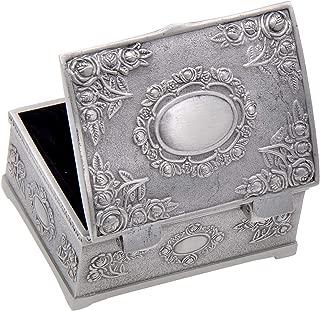 Vintage Metal Jewelry Box Trinket Display Treasure Storage Case