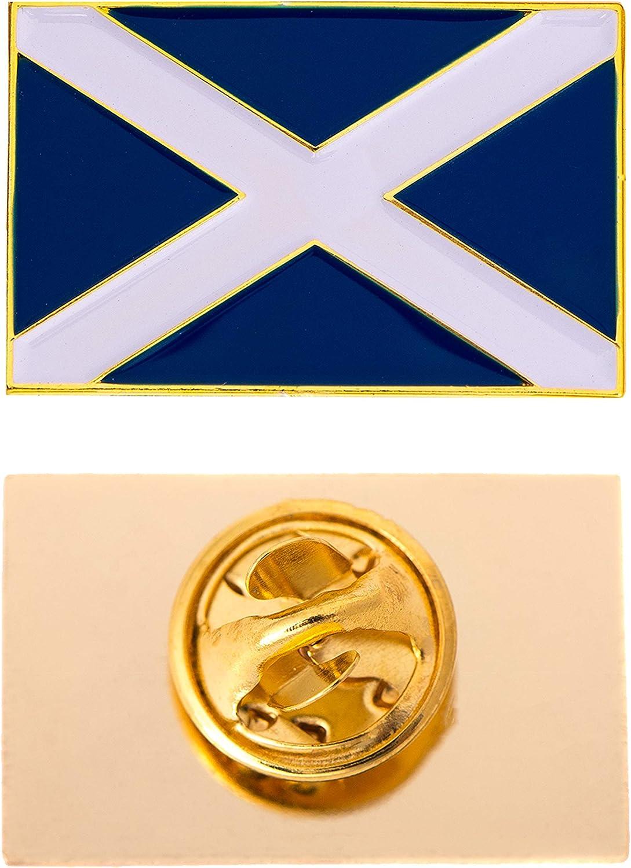 Desert Cactus Scotland Country Flag Lapel Enamel Made of Metal Souvenir Hat Men Women Patriotic (Rectangle Pin)