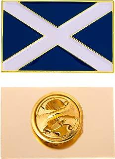 Scotland Country Rectangle Flag Lapel Pin Enamel Made of Metal Souvenir Hat Men Women Patriotic (Rectangle Pin)
