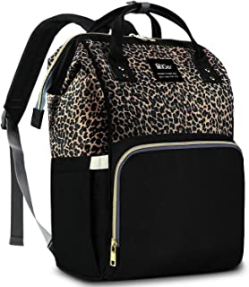 Diaper Bag Backpack, Diaper Bags for Baby Girl, Leopard Diaper Backpack Baby Bag