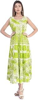 6TH AVENUE STREETWEAR Women's Cotton Dress - Free Size