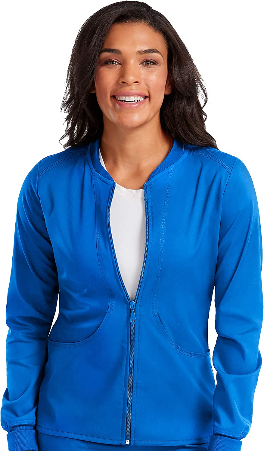 Med Couture Touch Women's Zip Front Warm Up Scrub Jacket