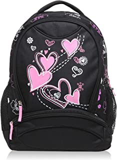 Hynes Eagle Sweetheart Pattern Kids Backpack Black
