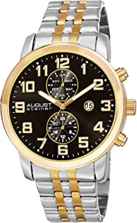 August Steiner Casual Watch Analog Display Quartz Movement For Men As8175Ygb, Band