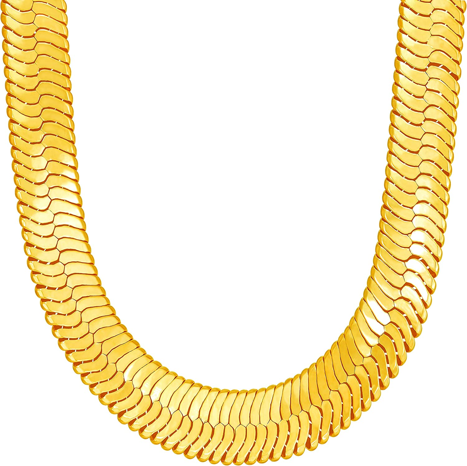 LIFETIME JEWELRY 11mm Shipping included Flexible Herringbone Chain Gorgeous Re 24k Necklace