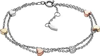 Fossil Women's Stainless Steel Silver-Tone Chain Bracelet