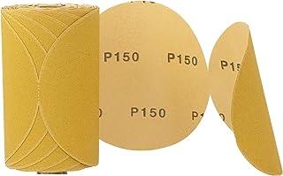 "Sanding Disc Sandpaper 6"" 100 Roll PSA Sticky Back Round With Adhesive Back Premium Aluminum Oxide Grain (150 Grit)"
