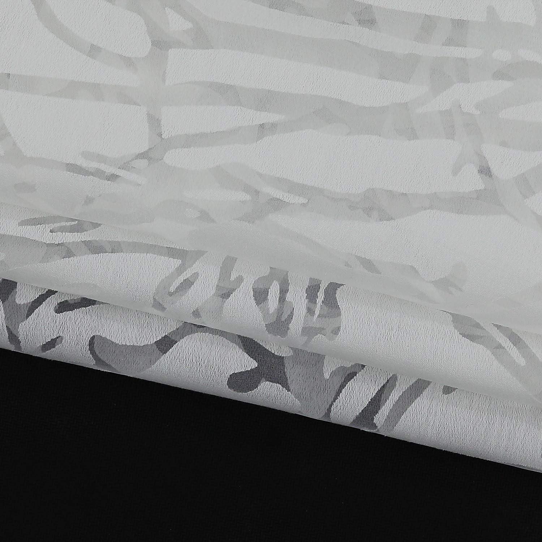 poli/éster Cortina 1 Pieza Transparente Wei/ß#2 Cocina Trabillas Heichkell HxB 45x90cm Visillo Corto