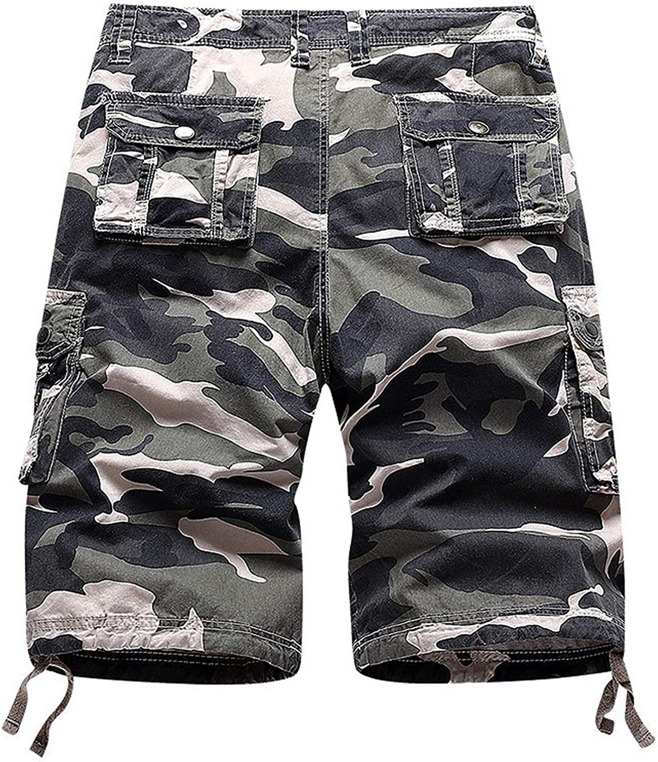 Multi-Pocket Cargo Shorts for Men's Summer Outdoor Casual Athletic Shorts Relax Fit Overalls Short Pants - Limsea