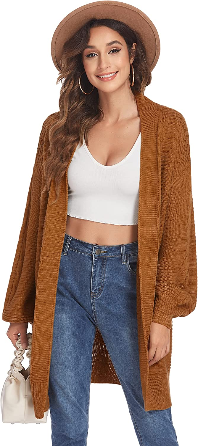 ELESOL Women's Max 53% OFF Cardigan Brand new Sweater Loose Po with Front Open Casual
