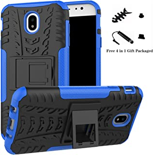 Galaxy J7 Pro 2017 case,LiuShan Shockproof Heavy Duty Combo Hybrid Rugged Dual Layer Grip Cover with Kickstand For Samsung Galaxy J7 Pro J730G 2017 Smartphone (With 4in1 Packaged),Blue