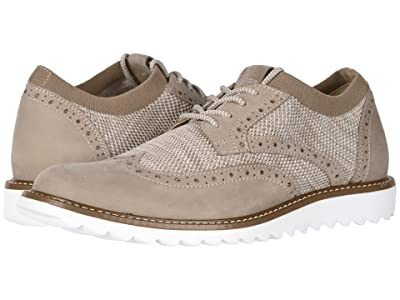 Dockers Hawking Knit/Leather Smart Series Dress Casual Wingtip Oxford with NeverWet (Oatmeal MarbeledKnit/Nubuck) Men