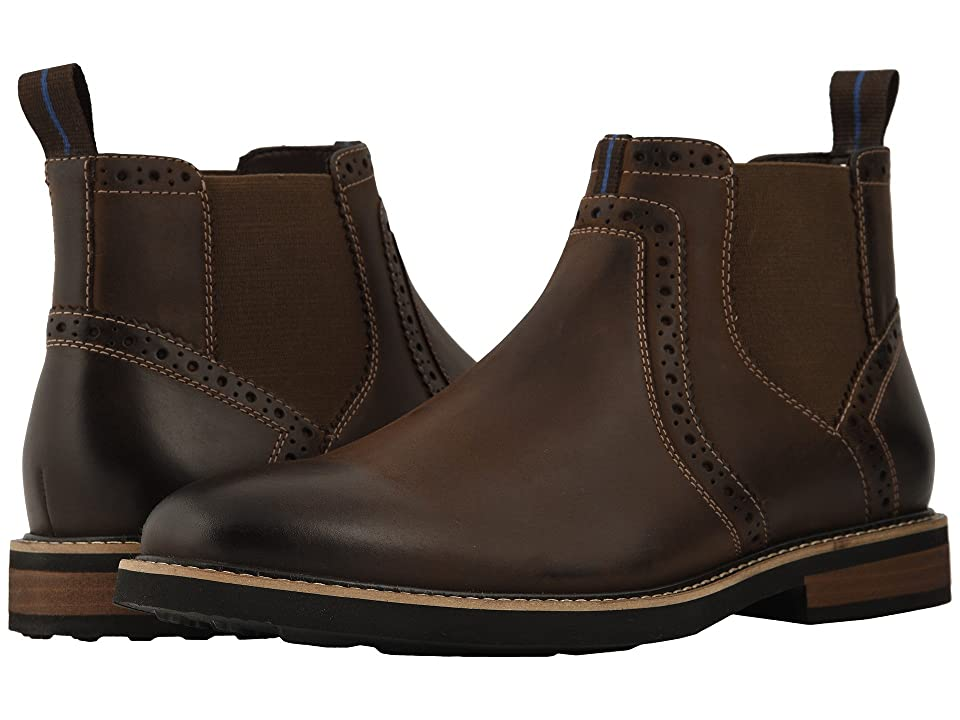 Nunn Bush Otis Plain Toe Chelsea Boot with KORE Walking Comfort Technology (Brown CH) Men