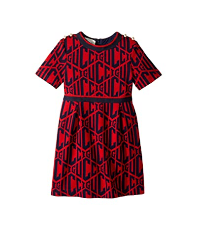 Gucci Kids Rhombus Cotton Jersey Dress (Little Kids/Big Kids) (Flare) Girl