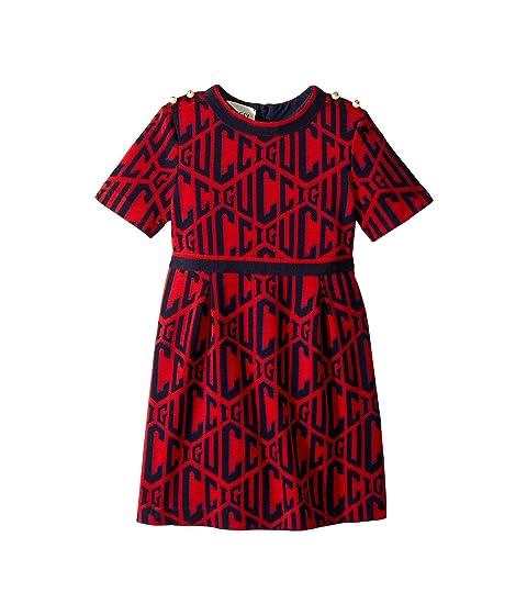 Gucci Kids Rhombus Cotton Jersey Dress (Little Kids/Big Kids)