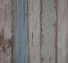 Papel pintado,53x565cm,Vinilo PVC autoadhesivo Pegatina de muebles,Espesar Papel pintado con efecto de azul Madera,Peel y Stick, Papel pintado impermeable anti-manchas, Fácil de aplicar